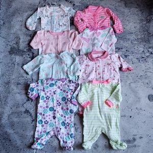 Carter's. Baby Girl 8pc Colorful Layette Bundle